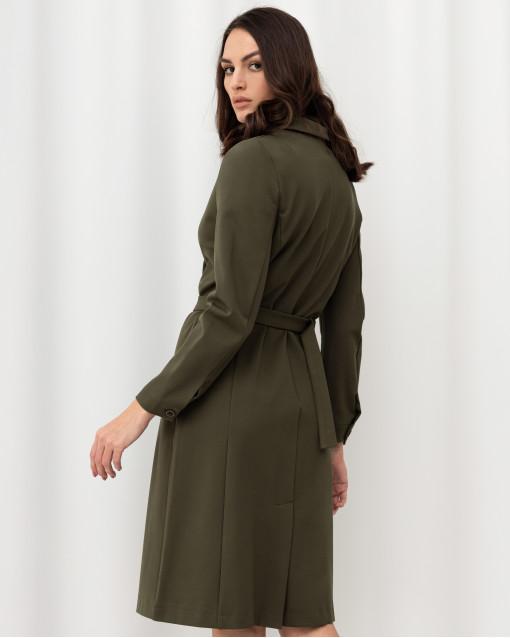 Платье трикотажное на запах с поясом