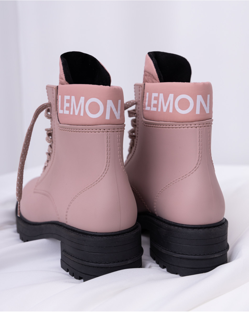 Ботинки с логотипом бренда LEMON JELLY на шнуровке