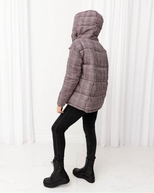 Куртка утепленная в мелкую клетку