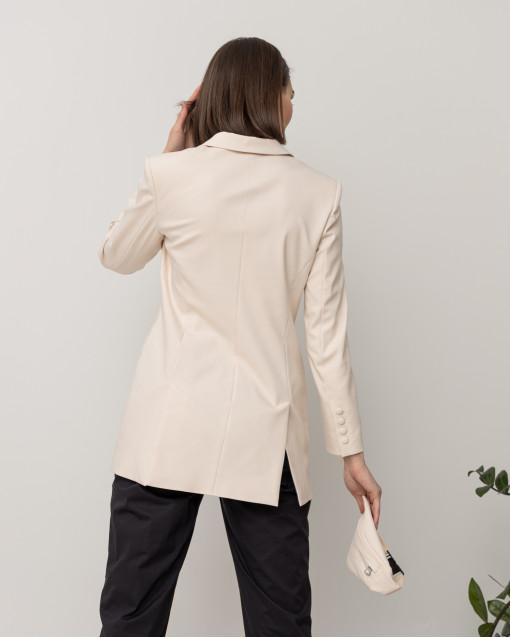 Жакет двубортный с поясом-сумкой на молнии