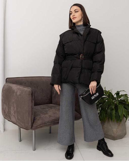 Куртка демисезонная двубортная с поясом