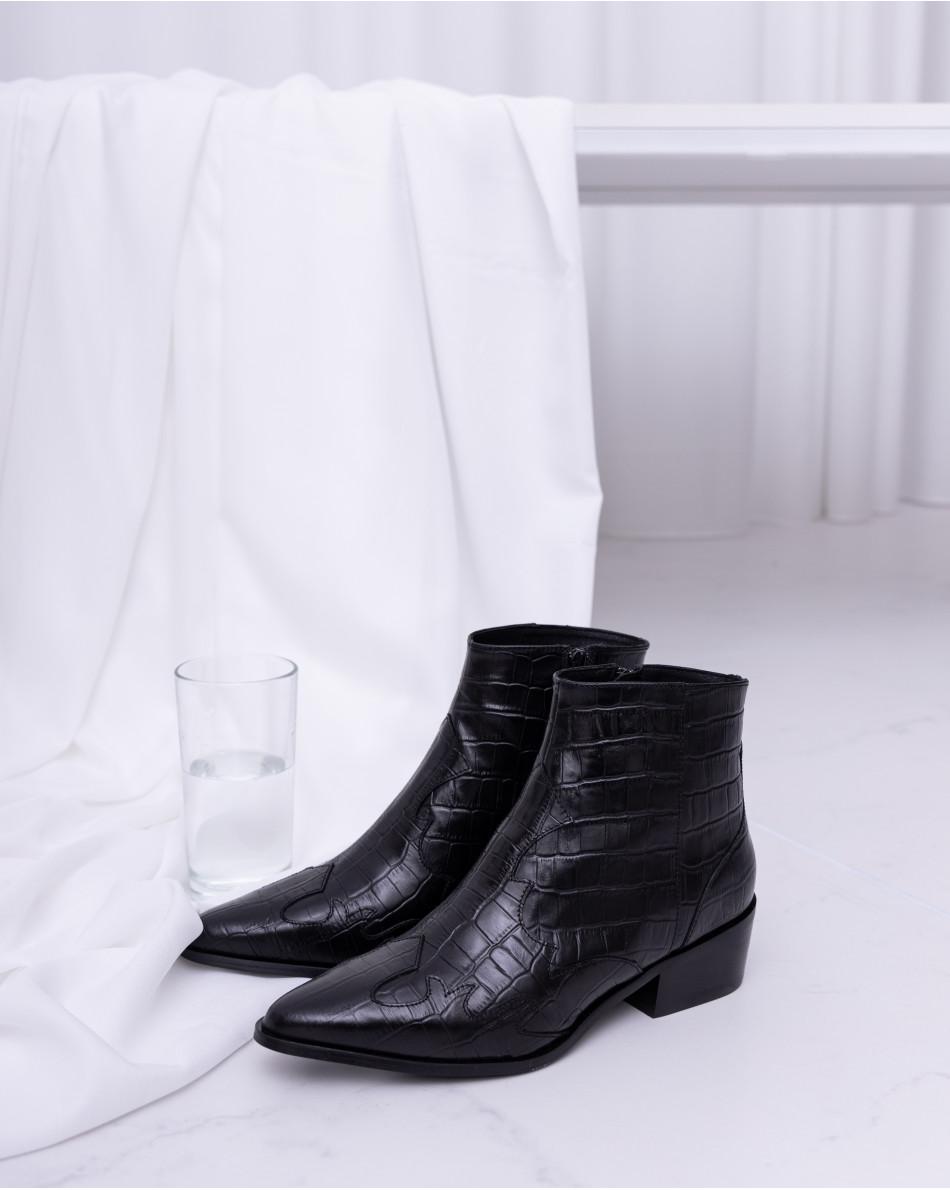 Ботинки на каблуке на молнии
