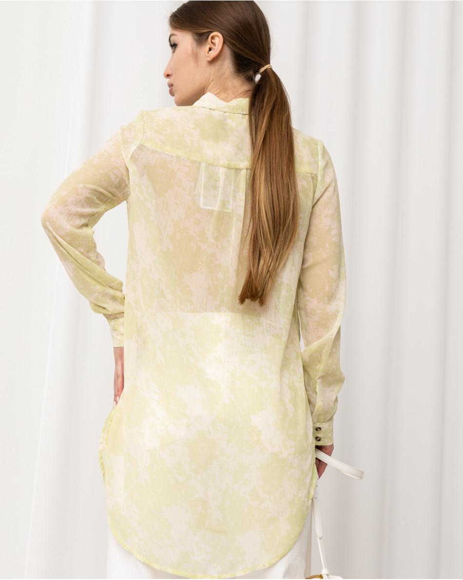 Рубашка удлиненного кроя