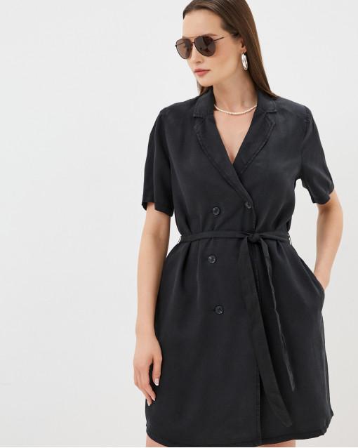 Платье-мини рубашечного кроя на пуговицах с поясом
