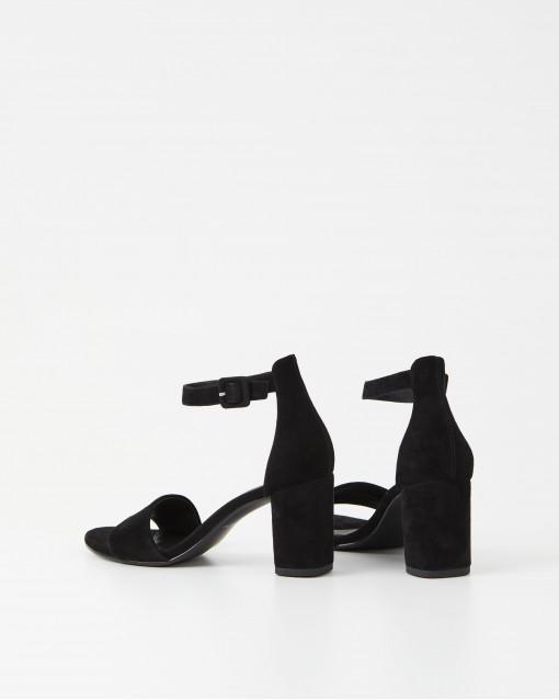 Босоножки на устойчивом каблуке из натуральной замши