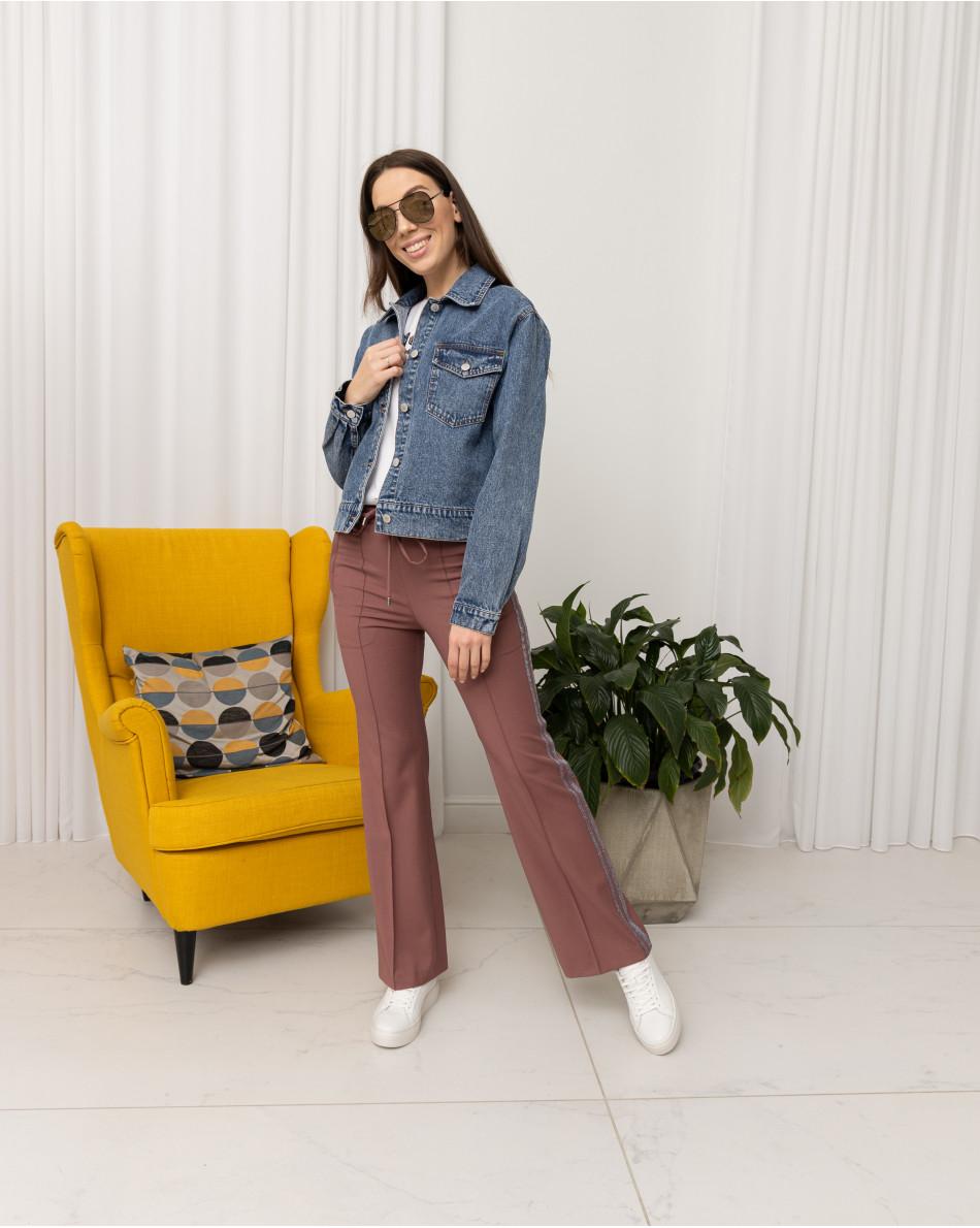 Куртка джинсовая укороченная