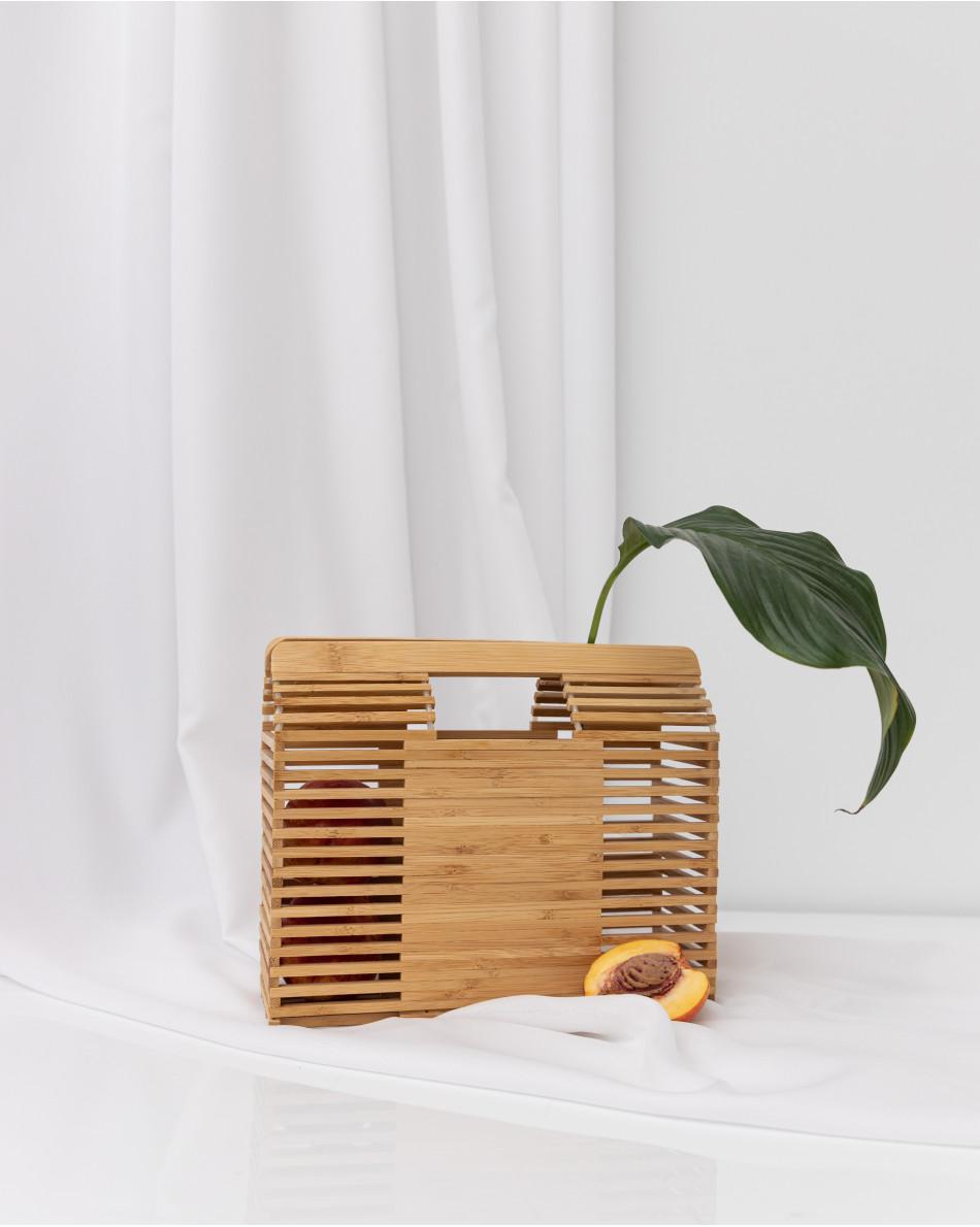 Сумка деревянная полукруглая