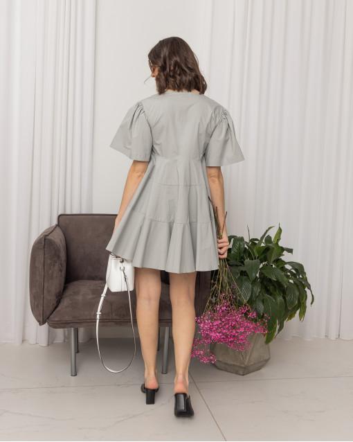 Платье-мини со сборкой и юбкой-солнце