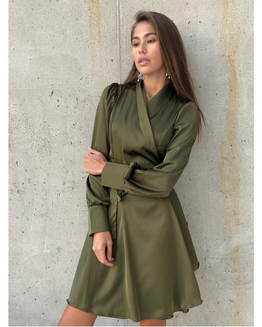 Платье-мини хаки