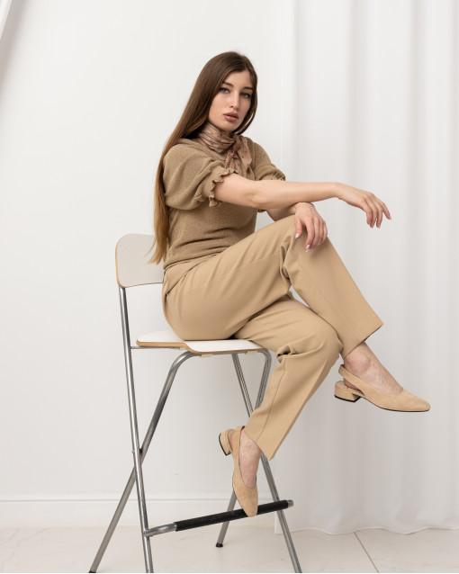 Трикотажная блуза с люрексом