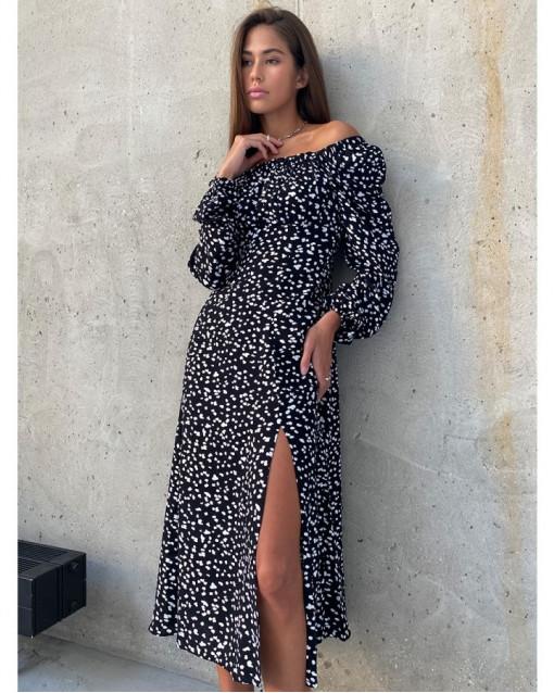 """Платье """"принт на черном"""""""