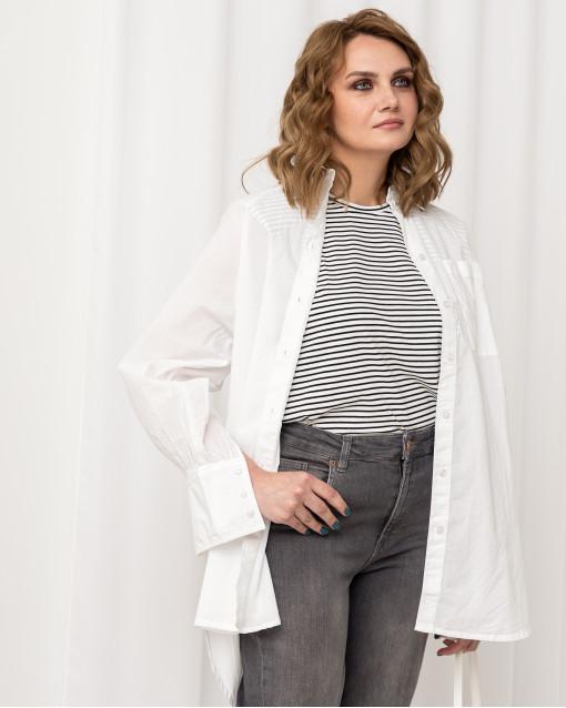 Блуза рубашечного кроя удлиненная
