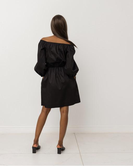 Платье-мини с открытыми плечами