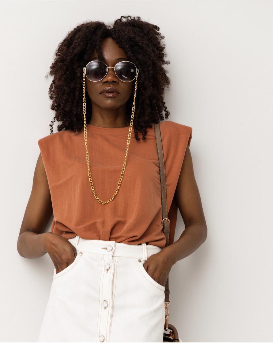 Блуза с подплечниками