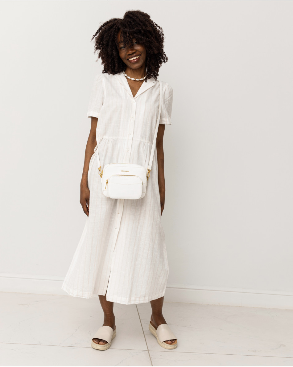 Платье-миди рубашечного кроя