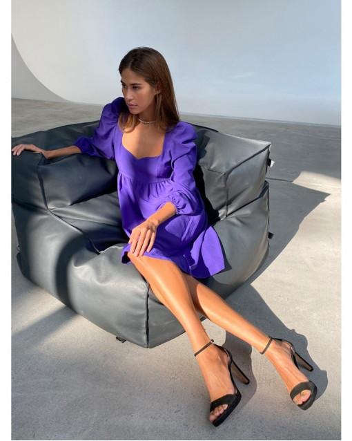 Платье-мини фиолетовый