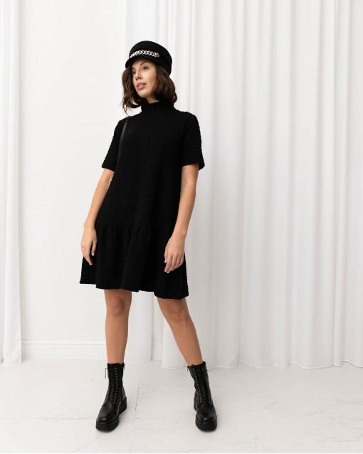 Платье-мини из джерси с воланом