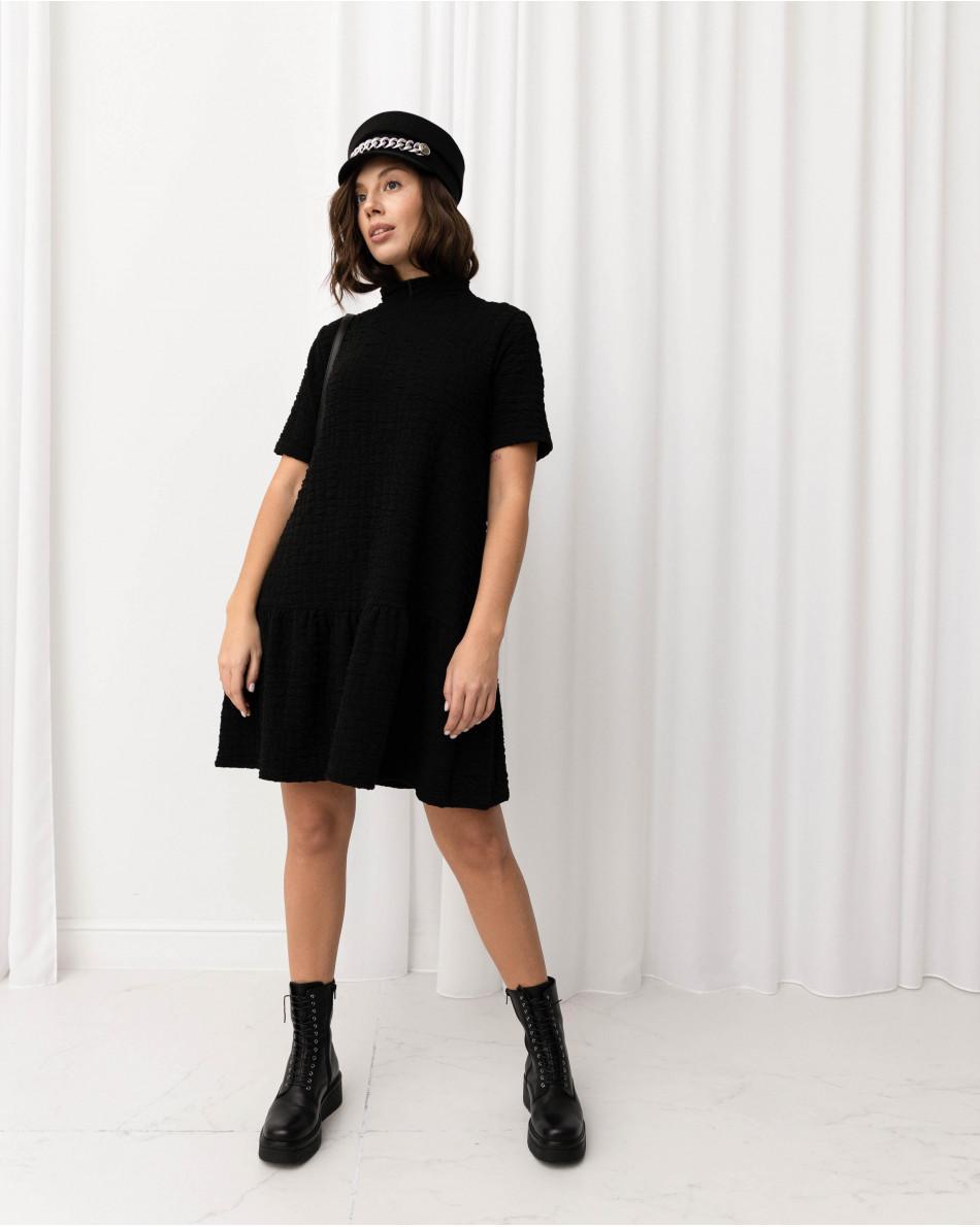 Платье-мини с воланом