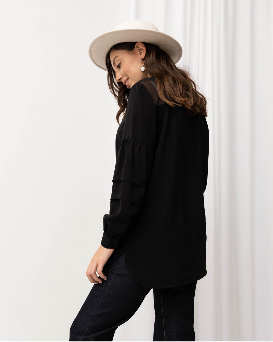 Блуза с рукавом-фонариком