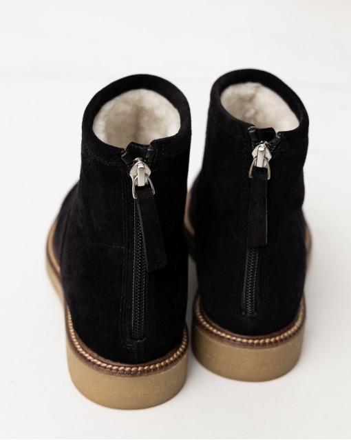 Ботинки зимние на молнии сзади из замши