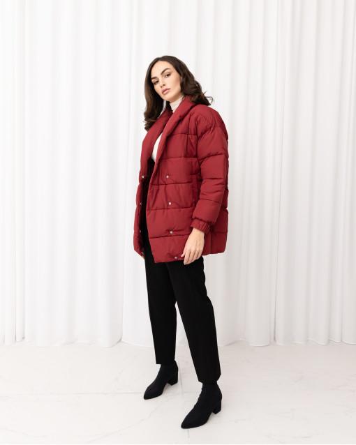 Куртка-кокон с отложным воротником