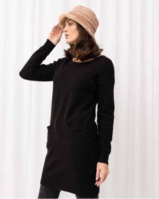 Платье трикотажное с кармашками