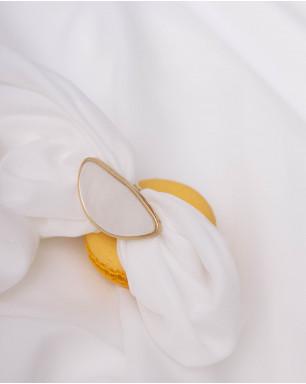 Ассиметричное кольцо с перламутром