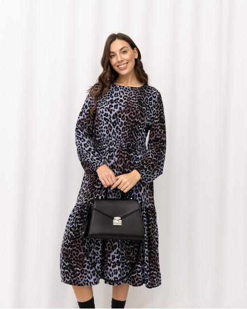 Платье на резинке на талии с энималистичным принтом