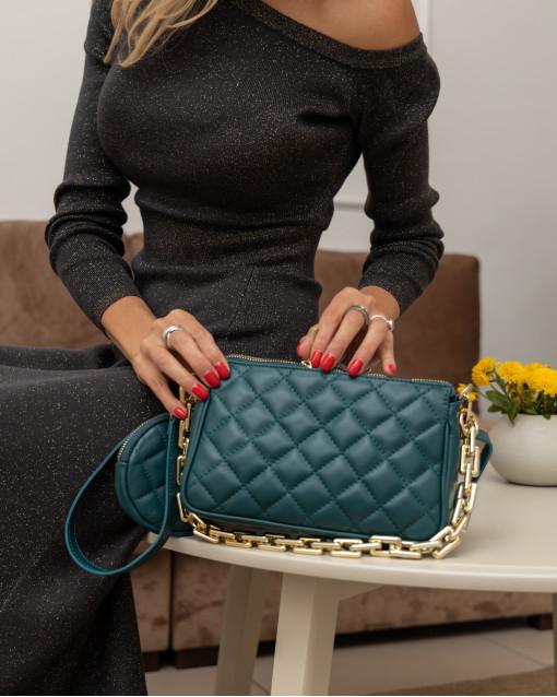 Клатч Latina + сумка мини из натуральной кожи