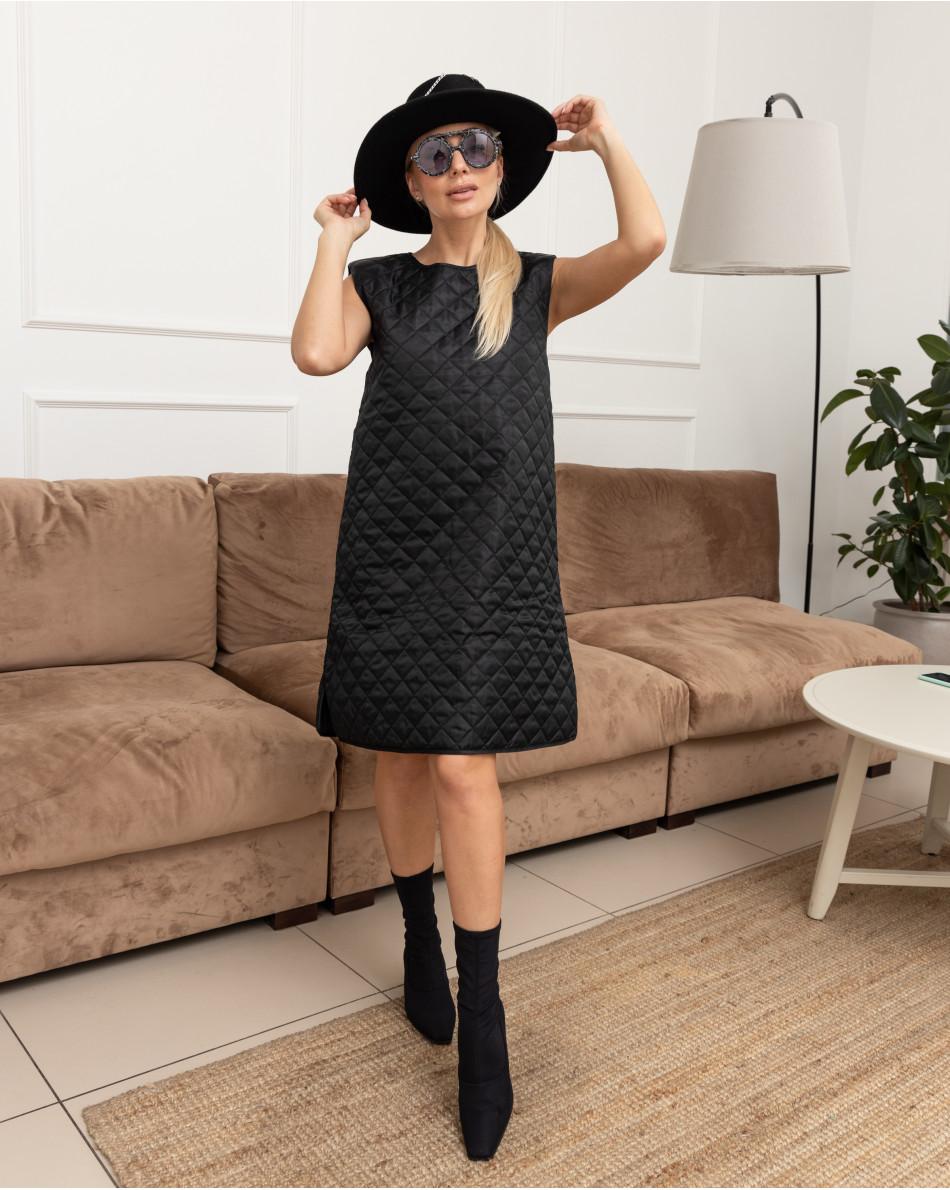 Платье-мини стеганое