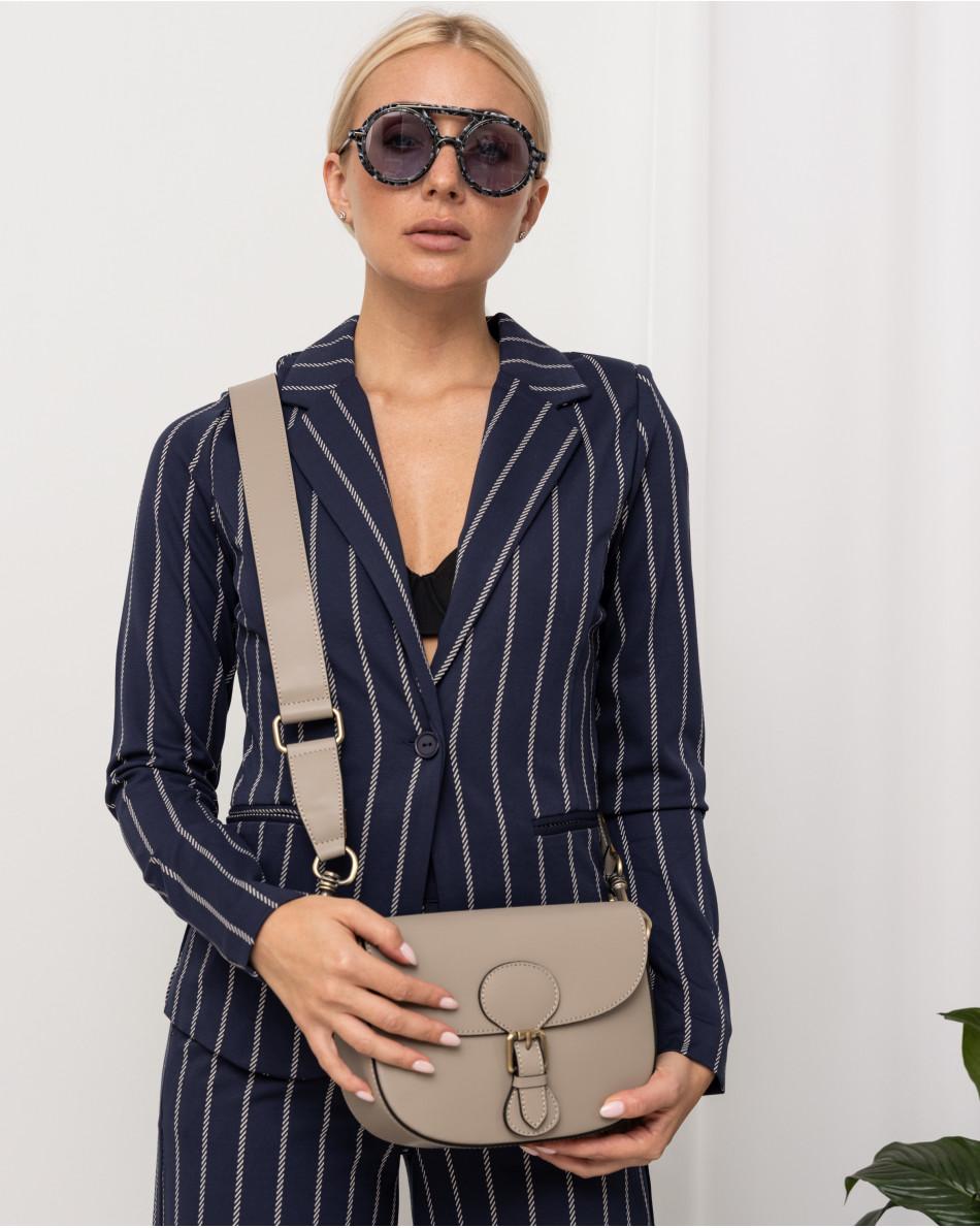 Солнцезащитные очки с голубыми линзами в черной с серым оправе