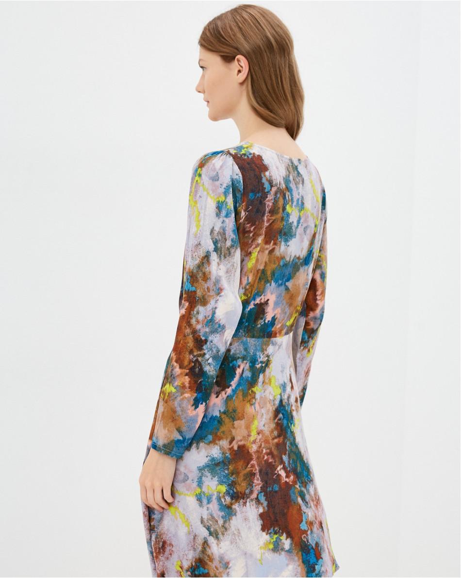Платье-мини мультиколор