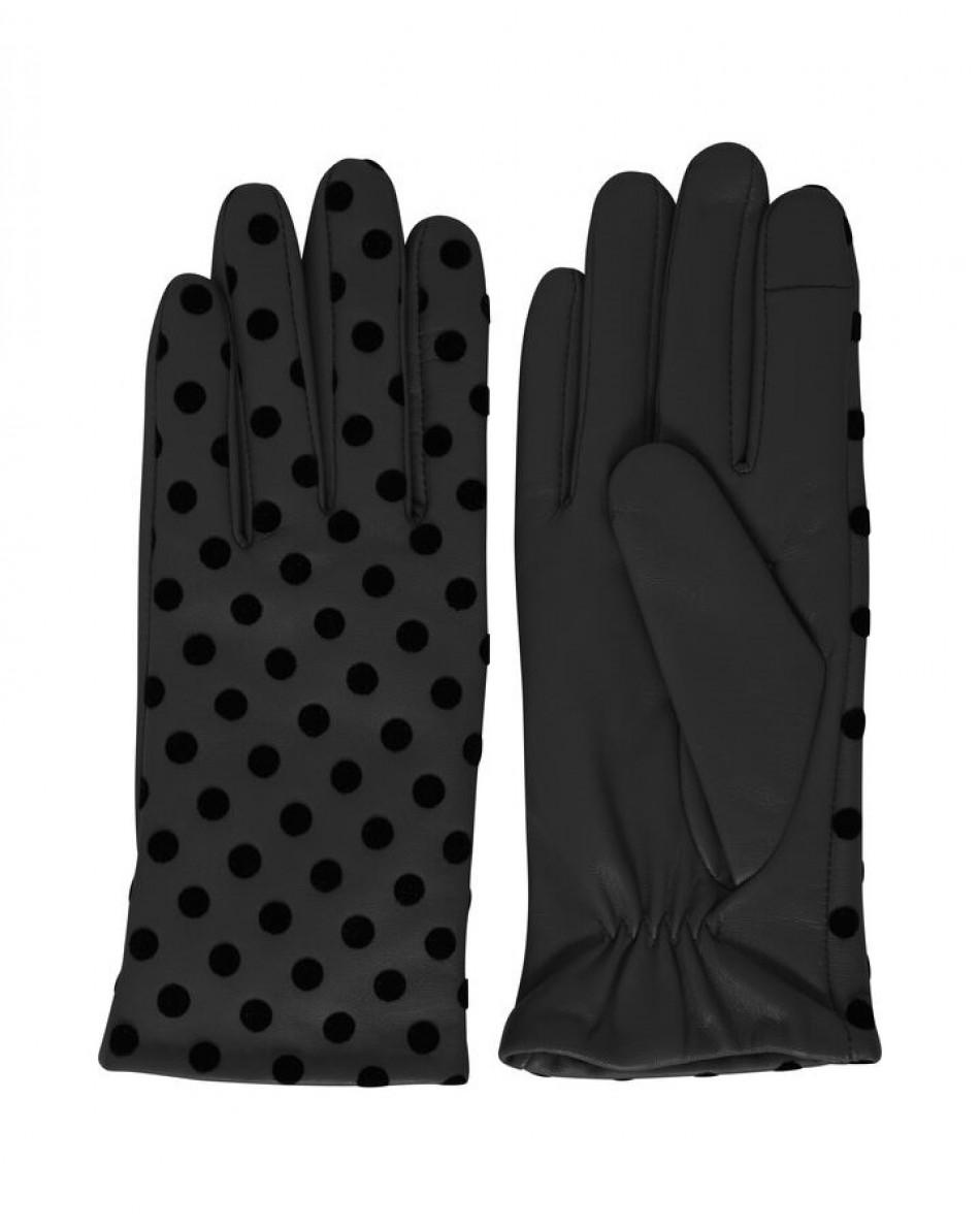 Перчатки из кожи в горох